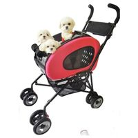 InnoPet® buggy 5 in 1 Hundebuggy + Hundetrolley + Hundetasche in Pink/Rot