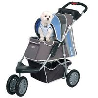 InnoPet® buggy First Class Hundebuggy Hundewagen Hunde Buggie Nylon blue/grey