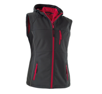 Owney Nuuk Vest Damen - Softshell Weste Outdoor Damenweste antracite-raspberry