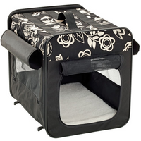 Hundebox Smart Top Floral zusammenklappbar 35 x 31,5 x 27 cm
