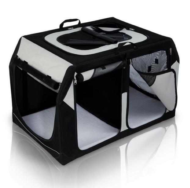 transportbox vario double pkw kofferraum hunde. Black Bedroom Furniture Sets. Home Design Ideas
