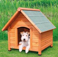 Hundehütte mit Satteldach Hundehütte Massiv Holz mit Satteldach | Hundekrone.de Hundeshop