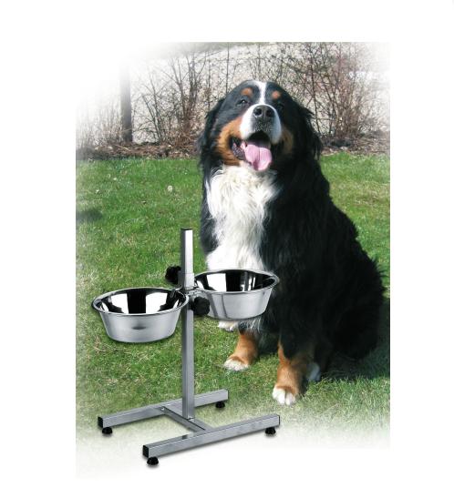Futterbar Napfständer 2 x 2800ml / höhenverstellbar - Hundenapf