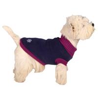 Wolters Strickpullover Schneeflocke Hunde Pullover marine-blau/fuchsia
