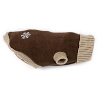 Wolters Strickpullover Schneeflocke Hunde Pullover schoko/beige