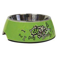 Wolters Rogz Bubble Napf Hundenapf Lime Bones XS - M