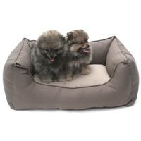 Wolters Basic Dog Lounge eckiges Nylonbett  mocca/sand S - XL