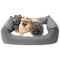 Wolters Basic Dog Lounge eckiges Nylonbett anthrazit/kiesel S - XL
