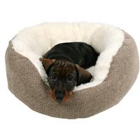Bett Yuma - Hundebetten Hundesofa Hundekorb braun/wollweiß XS - S
