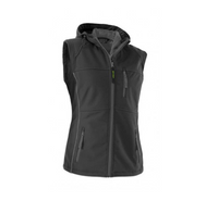 Owney Nuuk Vest Damen Softshell Weste Outdoor Damenweste anthracite-grey