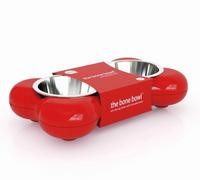 Futternapf The Bone Bowl - Rot - Hundenapf