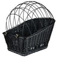 Hunde Fahrradkorb Weide-Optik schwarz 35 x 49 x 55 cm - Hundekorb