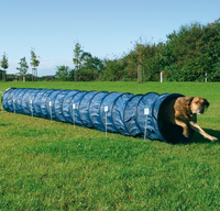 Dog Activity Agility Basic Tunnel 60cm/5m blau Training für Hunde