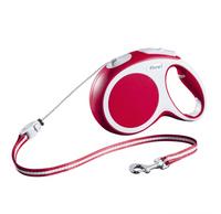Flexi VARIO, Seil | Rot | Seil-Roll-Leine XS-M - Hundeseilleine