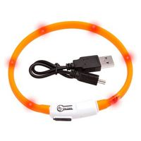 Visio Light LED Halsband- Sicherheitshalsband Hunde Leuchthalsband orange