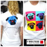 Wolters Damen T-Shirt Pop-Art Mops