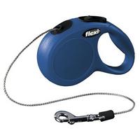 Flexi New Classic | Blau | Seil-Roll-Leine XS