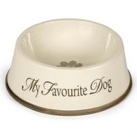 Keramik Dinnerbowl creme/braun My favourite Dog Einzelnapf