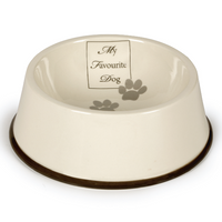 Keramik Dinnerbowl creme/anthrazit My favourite Dog Porzellan Einzelnapf