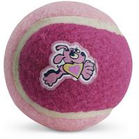 Rogz Molecules Hundspielzeug Tennisball hellrosa