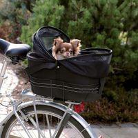 Fahrradtasche für Gepäckträger mit Sicherheitsnetzabdeckung schwarz