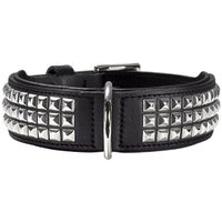 Hunter® Softvollrindleder Halsband Rocky No. III nickel schwarz