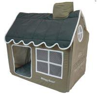 Hunde Kuschelhöhle Happy House® -- Villa Luxury Living (M) Taupe M - 62 x 42 x 59 cm Größe M