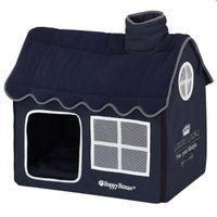 Hunde Kuschelhöhle Happy House® -- Villa Luxury Living (S) Dunkelblau/ Größe S