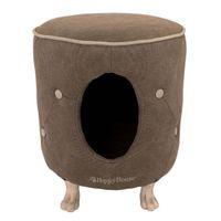 Hundehocker Happy House® -- XXL Sofa Gecapitonneerde Poef  -- Beige-Braun
