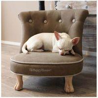 Hundesessel Happy House® --Gecapitonneerde katten-honden stoeltje-- Beige-Braun
