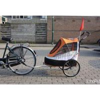 InnoPet® Sporty Trailer AT Pet Stroller Hundebuggy mit Luftreifen Fahhradanhänger Nylon orange bis 30kg