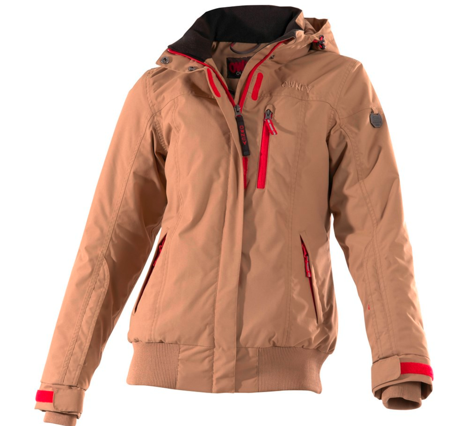 owney damen winterjacke urban in beige outdoorshop