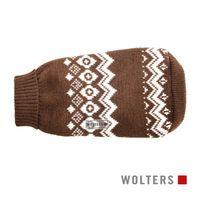 Wolters Strickpullover Norweger für Mops & Co. Hunde Pullover braun/weiß Hundepullover