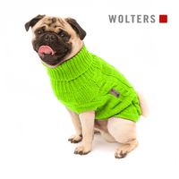 Wolters Zopf-Strickpullover lime für Mops & Co. Hunde Pullover Hundepullover