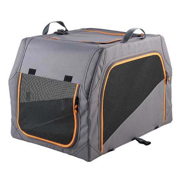 Hunter® Hunde Nylon Falt - ALUMINUM - GESTELL Transportbox Grau