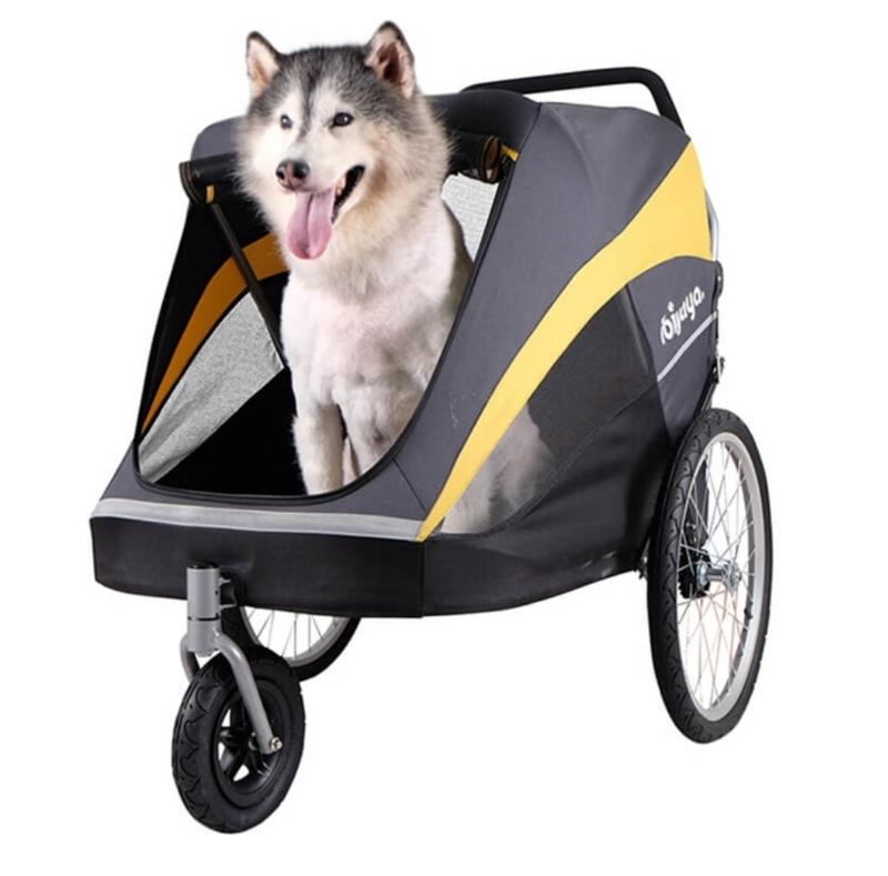 InnoPet® buggy Hercules für große Hunde  Hundebuggy grau/gelb