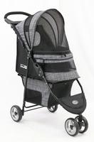 InnoPet ® buggy Avenue - IPS-033/BG - grau gemustert - inkl. Regenhaube Hundebuggy Pet Stroller