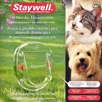Karlie Staywell 270 Hunde Türklappe Hundetür Katzentür Transparent mit 4 Wege Sperre