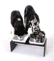 Wolters Hunde Futterstation Futterbar Meshidai Doppelnapf Hundenapf schwarz lackiert