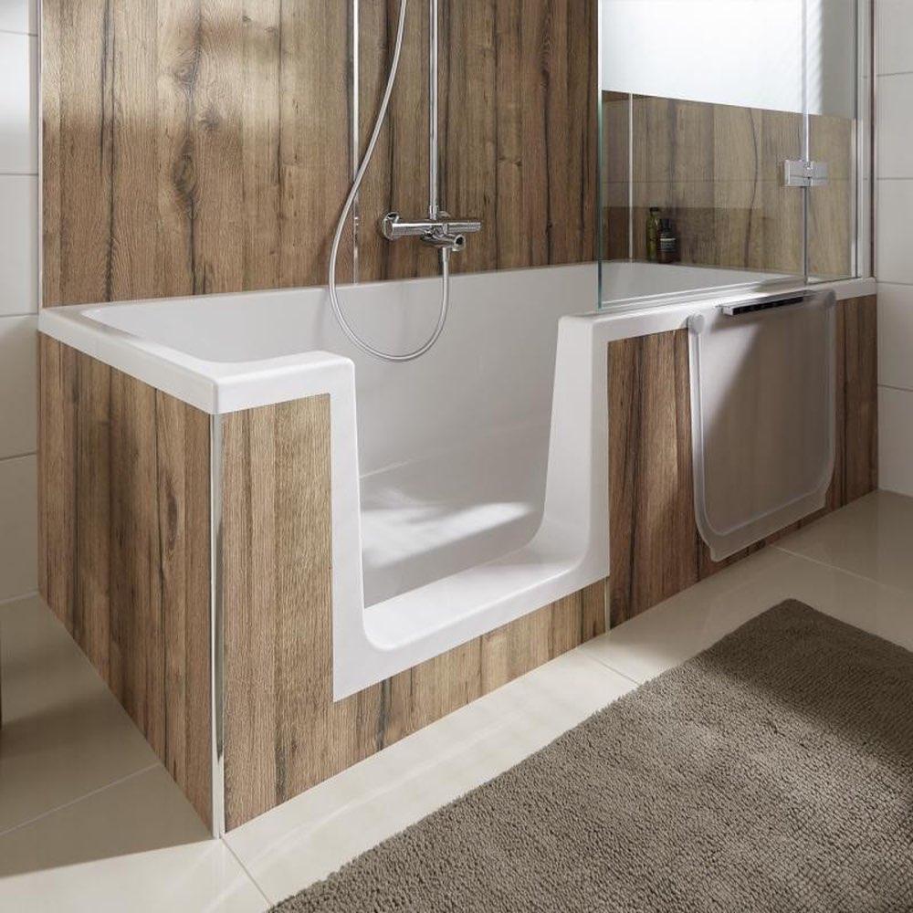 Duschbadewanne mit tür  HSK Dusch-Wanne Dobla 160 oder 170 cm Badewanne mit Tür mit ...