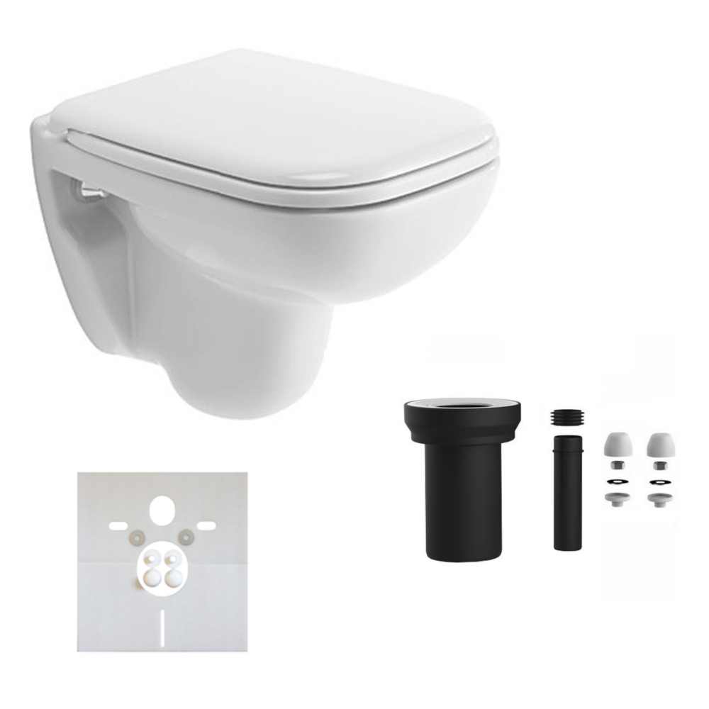 duravit d code wand wc compact wei 48 cm wc sitz mit ohne absenkautomatik ebay. Black Bedroom Furniture Sets. Home Design Ideas