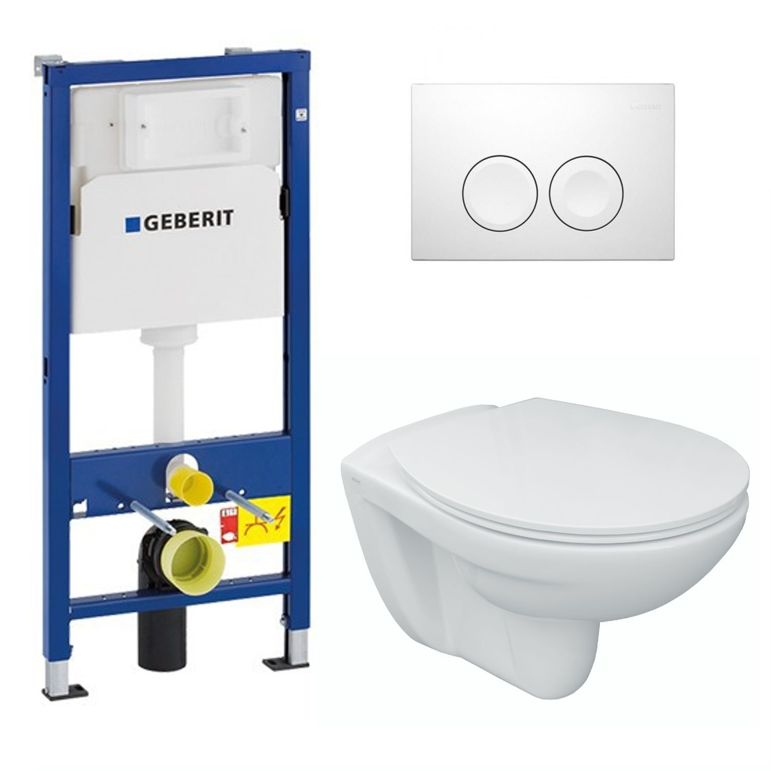 Wand-WC 54 cm inkl. Sitz Softclose, Geberit Duofix-Basic UP100 ...