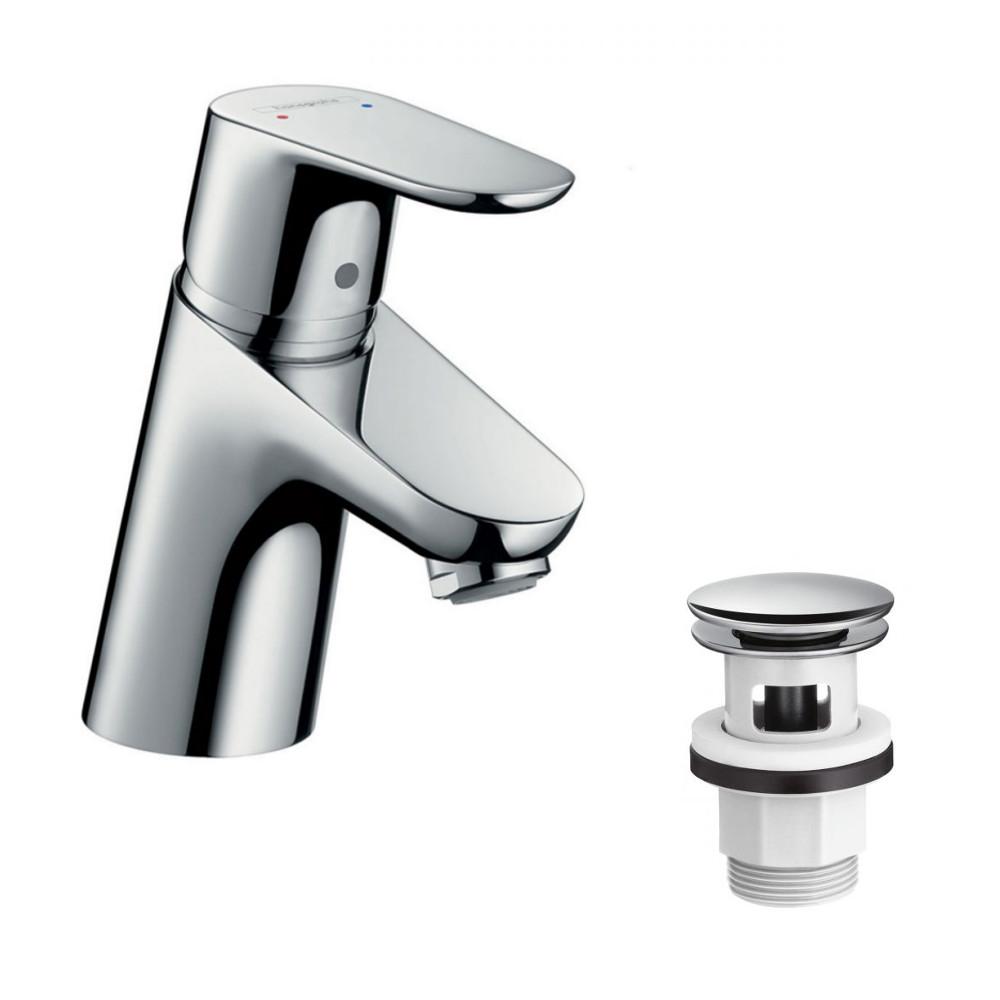 hansgrohe waschtischmischer focus 70 set 31604 31604000 inkl push open ebay. Black Bedroom Furniture Sets. Home Design Ideas