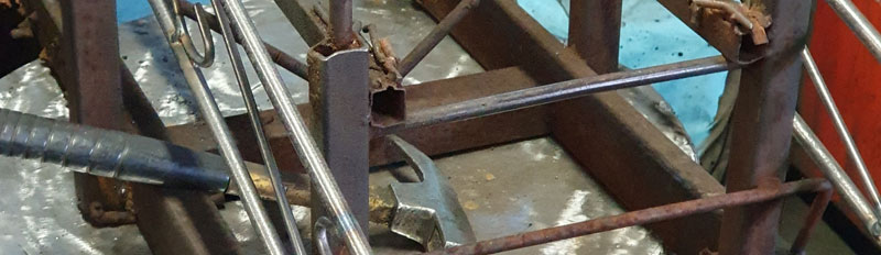 Fertigung Rosenbogen Metall