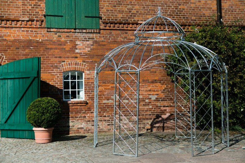 Gartenpavillon Metall Romantik Feuerverzinkt Ø 340cm