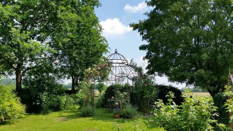 Gartenpavillon Metall Romantik Rost Ø290cm