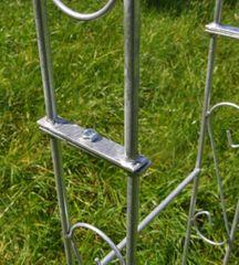 Rosenbogen Metall 140cm - Zink - mit Spitze