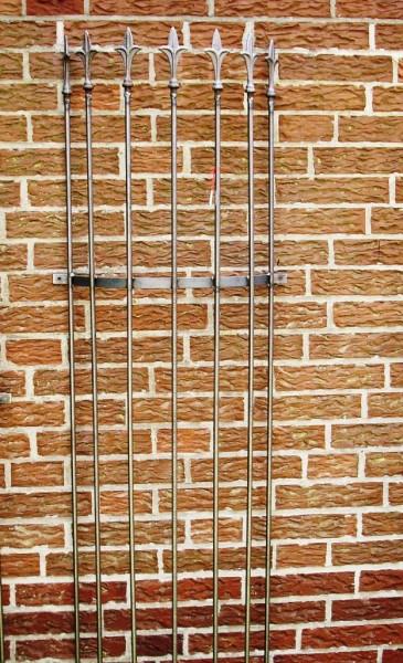Rankgitter Metall halbrund f. Wand  180cm Rost