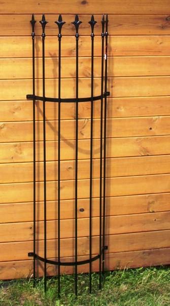 Rankgitter halbrund f. Wand 1,50 m, schwarz