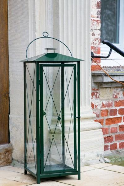 neu riesige stabile laterne h 100cm gr n windlicht stalllaterne metalllaterne ebay. Black Bedroom Furniture Sets. Home Design Ideas
